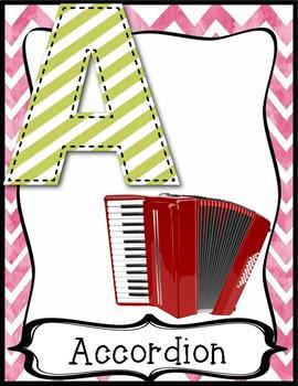 Instrument Alphabet Poster Set
