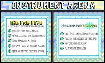 Instrument Arena - Orff Instrument Rules and Tips