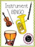 Instrument BINGO--Printable review game for instruments of the orchestra