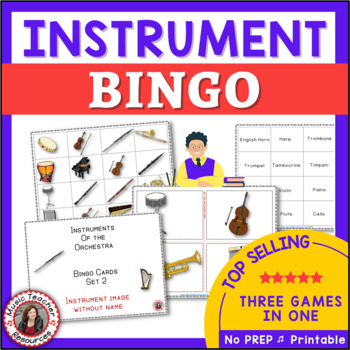 Music Bingo: Instruments of the Orchestra