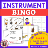 Instrument Bingo: Instruments of the Orchestra Music Bingo