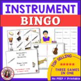 Musical Instruments Bingo: Instruments of the Orchestra Music Bingo