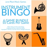 Music Instrument Bingo Game Bundle. Sub Tub / Centers Wind, Percussion, Strings