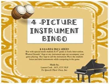 Instrument Bingo-Field of 4