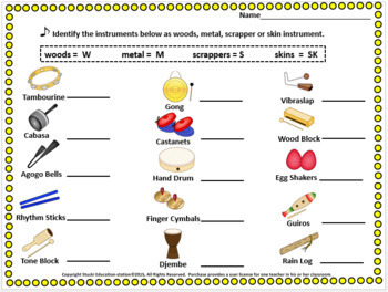 Music Bingo {Rhythm Instrument Game}
