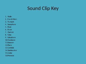 Instrument Bingo Sound Clips
