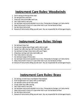Instrument Care Rule