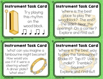 Instrument Centers for Orff Instruments and Nonpitched Percussion Instruments