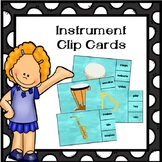 Instrument Clip Cards-Great for Music Stations!
