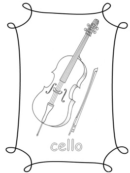 Instrument Coloring Pages