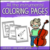 Instrument Coloring Pages with Descriptions and Kids playing!