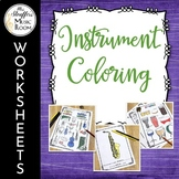 Instrument Coloring Worksheets - Great for Distance Learning