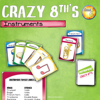 Instrument Crazy 8th's Game - Music Sub & Center Activity