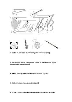 Instrument Exam. Examen de instrumentos