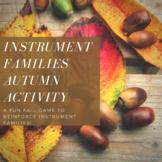 Instrument Families Autumn Activity