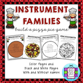Instrument Families - Build a Pizza Pie Game