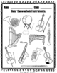 Instrument Families Coloring