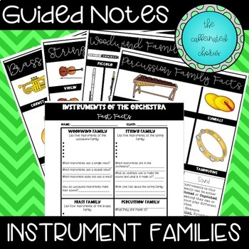 Instrument Families Guided Notes