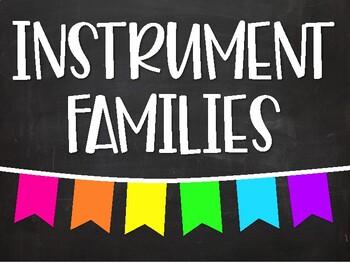 Instrument Families Poster Set - Chalkboard Brights