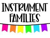Instrument Families Poster Set - White & Neon