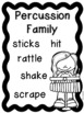 Instrument Families Posters - Color, black & white, PLUS editable versions