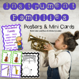 Instrument Families Posters & Mini Cards - Color & B/W