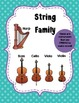 Instrument Families Posters -- Woodland Critter Theme