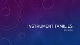 Instrument Families Presentation