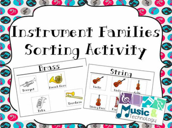 Instrument Families Sorting Activity