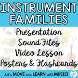 Instrument Families: Teaching Video, Lesson, Posters, Flashcards, Mp3's
