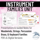 Instrument Families Unit (Print & Digital - Distance Learn