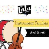 Instrument Families Word Search