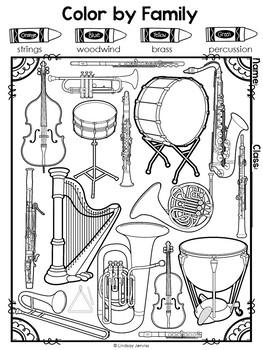 Instrument Families Workbook