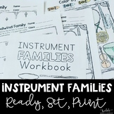 Instrument Families Workbook - great for Distance Learning