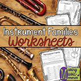 Instrument Families - Worksheets