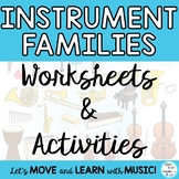 Instrument Families: Worksheets to Learn the Instruments Grades K-6