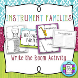 Instrument Families Write the Room Activity