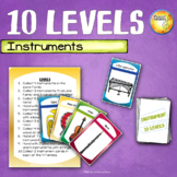 Instrument Family 10 Levels Card Game