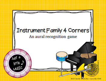 Instrument Family 4 Corners - An aural four corners style game
