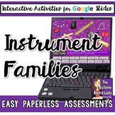 Instrument Family Activities for Google Slides