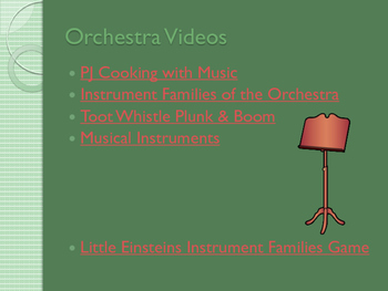 Instrument Family Album--Supplemental Collection of Resources for the Orchestra