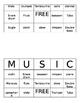 Instrument Family Bingo
