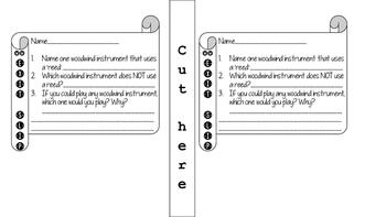 Instrument Family Center Folders