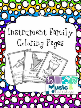 Instrument Family Coloring Pages