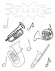 Instrument Family Coloring Sheets