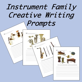 Instrument Family Creative Writing Prompts