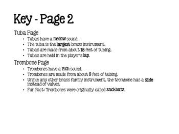 Instrument Family Flipbook Bundle