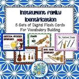 Instrument Family Identification Digital Flash Card Bundle