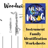 Instrument Family Identification Worksheets