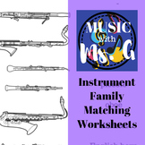 Instrument Family Matching Worksheets